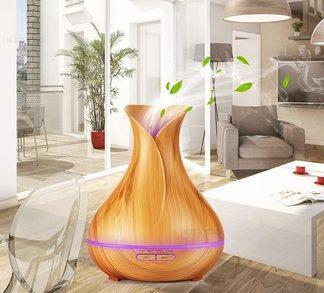 Diffuser-300ml Essential Oil-wood Grain-Ultrasonic Aroma Cool Mist