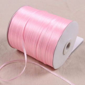 1/8″ 3mm Satin Ribbon for packing and bow & Garment Accessories 10y/lot 04 Pink