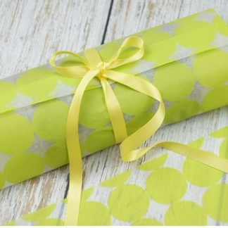 Wrapping Paper-25 Pieces-Lime Green-Gifts-Packaging
