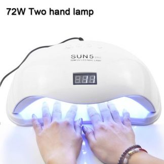 72W SUN5 Pro UV Lamp LED Nail Lamp Nail Dryer For All Gels Polish Sun Light Infrared Sensing 10/30/6
