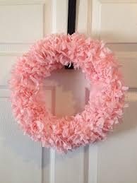 Tissue Paper Wreath-Pastel blue-Patstel and pink-rosettes