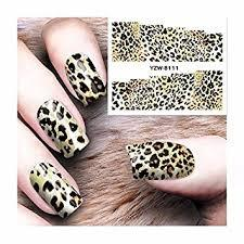 1 Sheet Leopard Animal 3D Nail Art Stickers Self-adhesive Decals DIY Nail Designs
